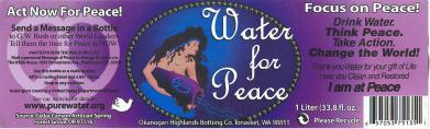 water for peace